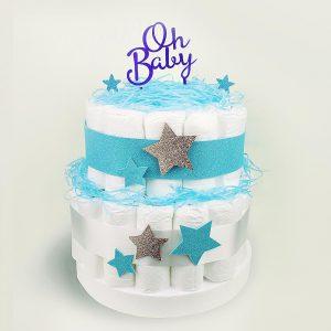 tarta pañales baby